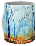 Misty November Woods Coffee Mug