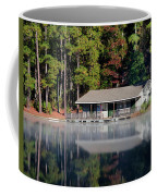 Misty Reflection At Durant Coffee Mug by George Randy Bass