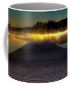 Misty Sunrise On Old Forge Pond Coffee Mug