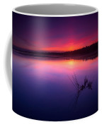 Misty Sunset At Singing Sands Beach Coffee Mug