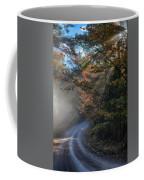 Misty Turn In The Road Coffee Mug
