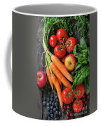 Mix Of Fruits, Vegetables And Berries Coffee Mug