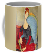 Mme Hebuterne In A Blue Chair Coffee Mug by Amedeo Modigliani