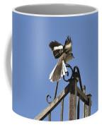 Mockingbird Landing On Fence Coffee Mug