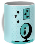 Mod Wallpaper In Aqua Coffee Mug