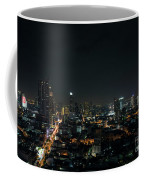 Modern Buildings In Silom Area Of Bangkok Thailand At Night Coffee Mug