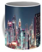 Modern City Architecture By Night. Dubai. Coffee Mug