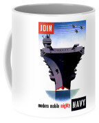 Modern Mobile Mighty Navy Coffee Mug