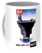 Modern Mobile Mighty Navy Coffee Mug