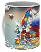 Modern Portrait Of Modern Europe - 3d Coffee Mug