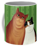 Moggies Coffee Mug by Magdolna Ban