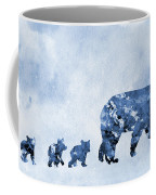 Mom And Baby Bears-blue Coffee Mug