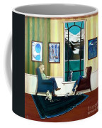Mom And Daughter Sitting In Chairs With Sphynxes Coffee Mug