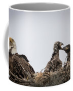 Mom And Little Eaglets Coffee Mug