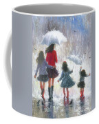 Mom Three Daughters Rain Coffee Mug