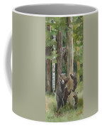 Momma With 4 Bear Cubs Coffee Mug