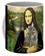 Mona Lisas Norwegian Forest Cat Coffee Mug
