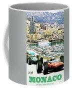 Monaco Grand Prix Racing Poster - Original Art Work Coffee Mug