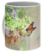 Monarch And Garden Basket Coffee Mug