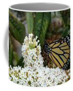 Monarch And The Butterfly Bush  Coffee Mug