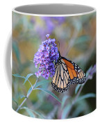Monarch Butterfly And Purple Flowers Coffee Mug