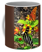 Monarch Butterfly And Zebra Butterfly Coffee Mug