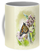 Monarch Butterfly Blank Note Card Coffee Mug