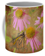 Monarch Butterfly In Pink Coffee Mug