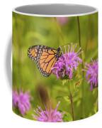 Monarch Butterfly On Bee Balm Flower Coffee Mug