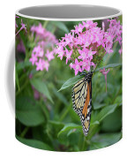 Monarch Butterfly On Pink Flowers  Coffee Mug
