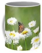 Monarch On Daisies Coffee Mug