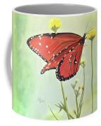 Monarch On Milkweed Coffee Mug