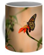 Monarch On Zinnia Coffee Mug