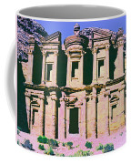 Monastery At Petra Coffee Mug by Dominic Piperata