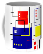 Mondrian Redux Coffee Mug by Tara Hutton