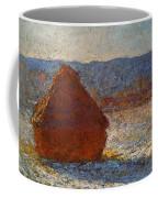 Monet Claude Haystack Snow Effect  Cat Coffee Mug