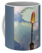 Monet Water Lily Stem Red Orange Coffee Mug