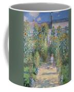 Monet's Garden At Vetheuil Coffee Mug