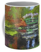 Monets Garden Painting Palette Knife Coffee Mug