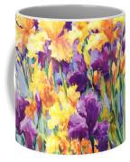Monet's Iris Garden Coffee Mug