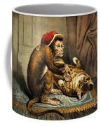 Monkey Physician Examining Cat For Fleas Coffee Mug