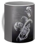 Monkey Playing Tuba Coffee Mug