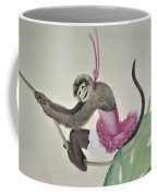 Monkey Swinging In The Trees Coffee Mug