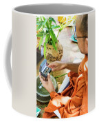 Monks Blessing Buddhist Wedding Ring Ceremony In Cambodia Asia Coffee Mug
