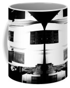 Monochrome Building Symmetry Abstract Coffee Mug