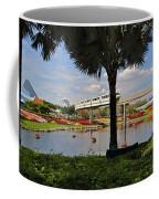 Monorail At Epcot Coffee Mug