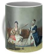 Monsieur Levett And Mademoiselle Helene Glavany In Turkish Costumes Coffee Mug by Jean Etienne Liotard