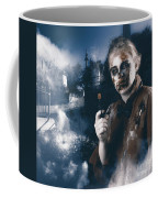 Monster In Cemetery Holding Gun. Grave Robber Coffee Mug by Jorgo Photography - Wall Art Gallery
