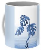 Monstera Leaf-blue Coffee Mug