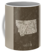 Montana Map Music Notes 3 Coffee Mug